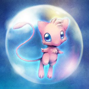 Baby Mew in bubble