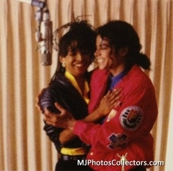 Michael And Siedah Garrett In The Recording Studio