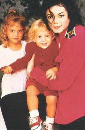 Michael With His Two Stepchildren, Riley And Benjamin Back In 1994