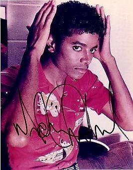 A Vintage Autographed Picture Of Michael Jackson