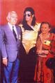 Michael Backstage With Fans - michael-jackson photo