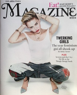 Miley on THE TIMES MAGAZINE