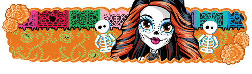 monster high wallpaper called Banner Skelita
