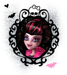 Monster High Hintergrund called Ghouls Rule Draculaura