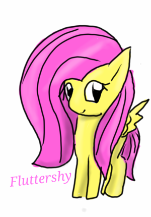 Fluttershy Drawing