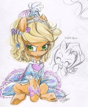 applejack Wearing a Dress