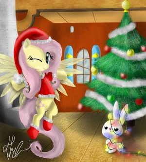 Decorating with Fluttershy and malaikat