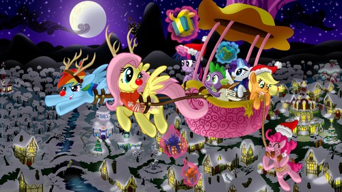 My Little pony Friendship is Magic achtergrond called MLP Christmas
