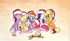The Mane 6 Wearing Hats