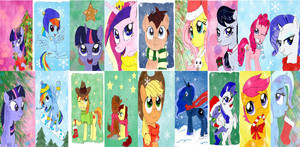 MLP Characters and Weihnachten