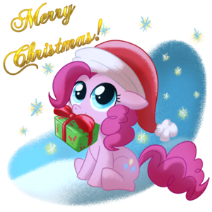 Pinkie Pie with a Gift