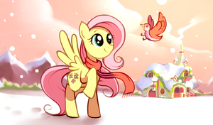 Fluttershy and a Bird
