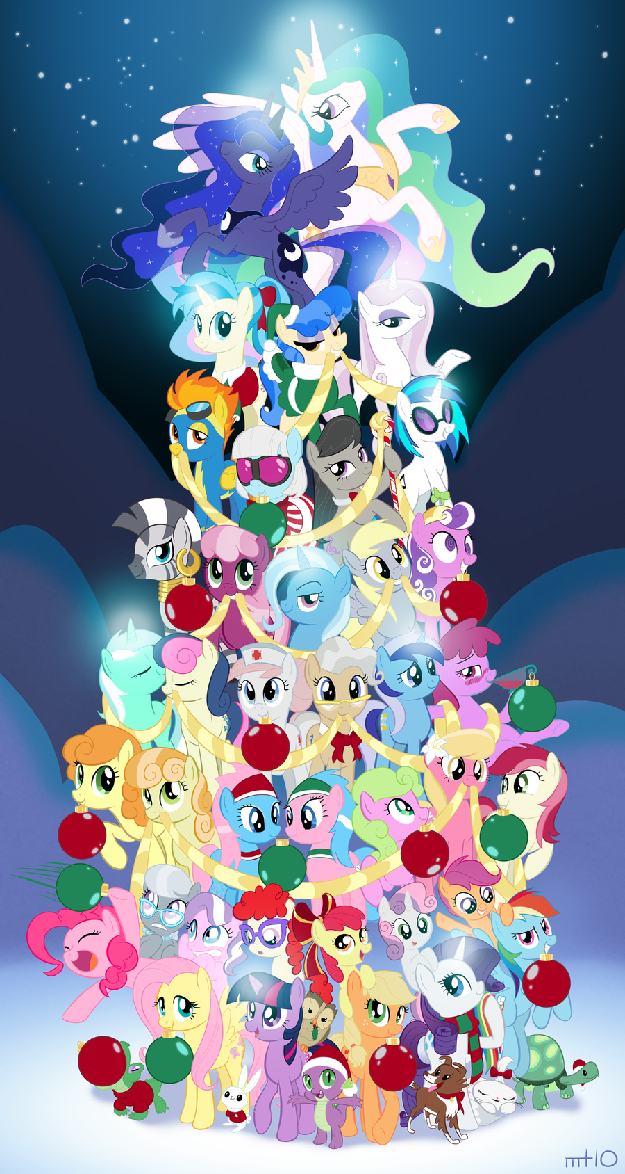 my little pony friendship is magic images mlp christmas tree hd wallpaper and background photos