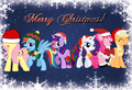 Merry pasko from the Mane 6