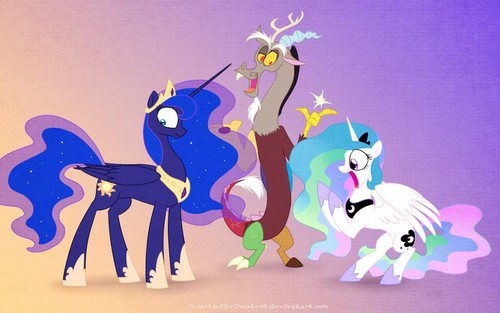 My Little Pony Coloring Pages Nightmare Moon : My little pony friendship is magic images discord switching luna