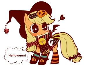 applejack on Halloween