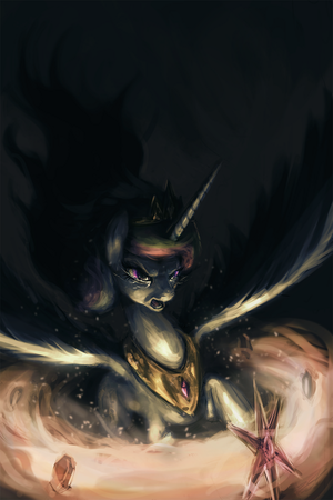 Princess Celestia Using the Elements of Harmony