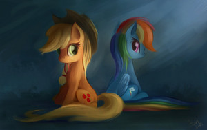 mela, apple Jack and arcobaleno Dash