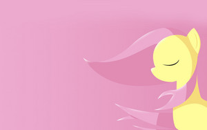 Fluttershy with Mane Blowing