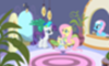 Rarity and Fluttershy at the Spa
