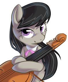 Octavia Holding a Cello