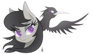 Octavia and a 乌鸦