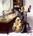 Octavia membaca