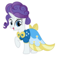 Rarity Wearing a Dress