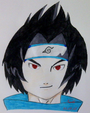 Sasuke Uchiha. (Sharingan) (Plz write commentaires for the pic)