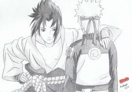 Sasuke and Naruto. (Dont forget to write some コメント on the pic):D