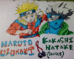 Naruto and Sensei.