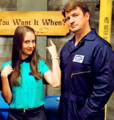 Nathan in Community(December,2013) - nathan-fillion-and-stana-katic photo