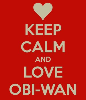 Obi-Wan Kenobi wallpaper possibly with a no parking zone called Keep Calm and Love Obi-Wan ♥