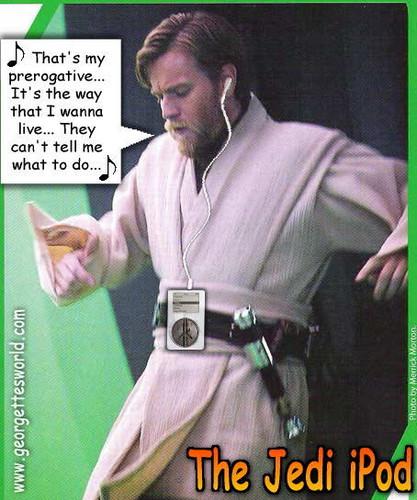 Obi-Wan Kenobi wallpaper entitled Obi-Wan's iPod