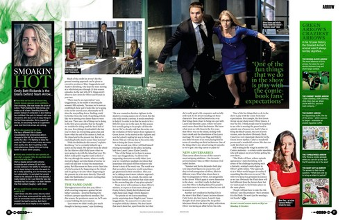 Oliver & Felicity Hintergrund titled SFX mag (Dec 2013) - Arrow