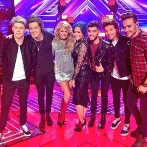 One Direction with the X Factor Judges♥