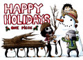 Happy holidays - one-piece photo