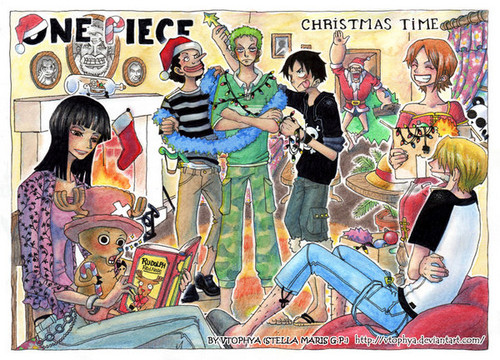 One Piece wallpaper with anime entitled Happy holidays