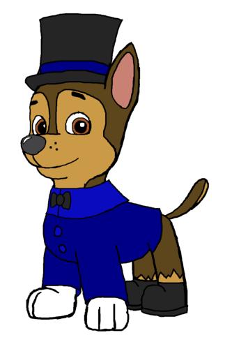 PAW Patrol karatasi la kupamba ukuta probably with anime entitled Chase - Holiday Winter Outfit