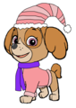 Skye - Holiday Winter Outfit - paw-patrol fan art