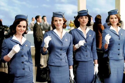 Pan Am wallpaper probably with a green beret and regimentals entitled Flying the Friendly Skies