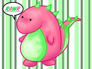 A fat dinosaur