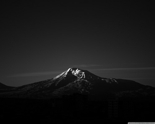 Acak wallpaper titled black and white mountain wallpaper