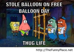 Spongebob and Patrick are thugs