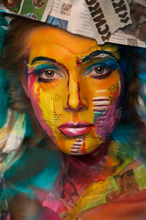 Amazing Face-Paintings Transform modelle Into The 2D Works Of Famous Artists da Valeriya Kutsan