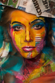 Amazing Face-Paintings Transform Model Into The 2D Works Of Famous Artists sejak Valeriya Kutsan