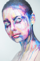 Amazing Face-Paintings Transform modelos Into The 2D Works Of Famous Artists por Valeriya Kutsan