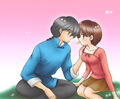 Ranma and Akane [yum] - ranma-1-2 fan art