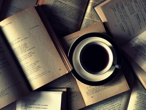 Reading wallpaper titled Books with Coffee ♡