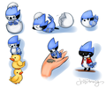 mini mordo doodles - regular-show photo